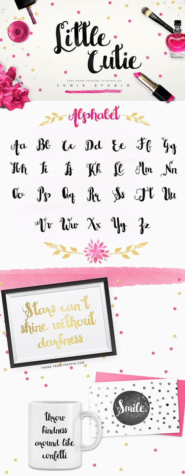 25 Little Cutie Free Font
