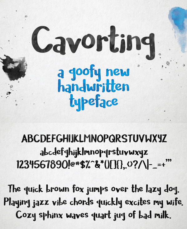 26 Cavorting Free Font