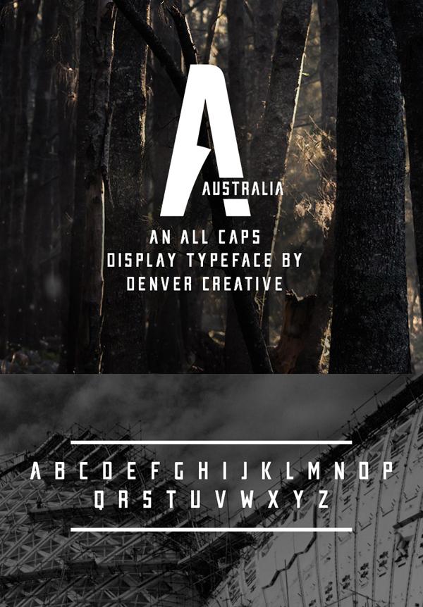 27 Australia Free Font