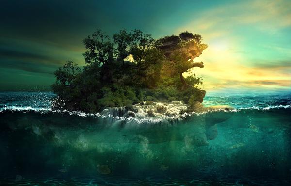 28 Aquatic Photo Manipulation of a Giant