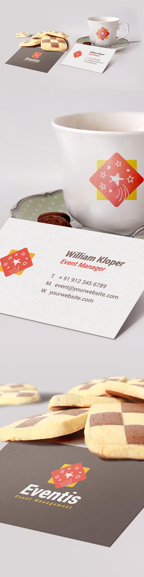 29 Free Business Card & Coffee Cup Scene Mockup