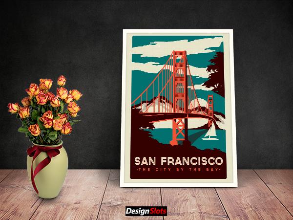 30 Free Artwork Frame Mockups Design
