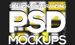 10 New Branding, Stationery PSD Mockups for Designers