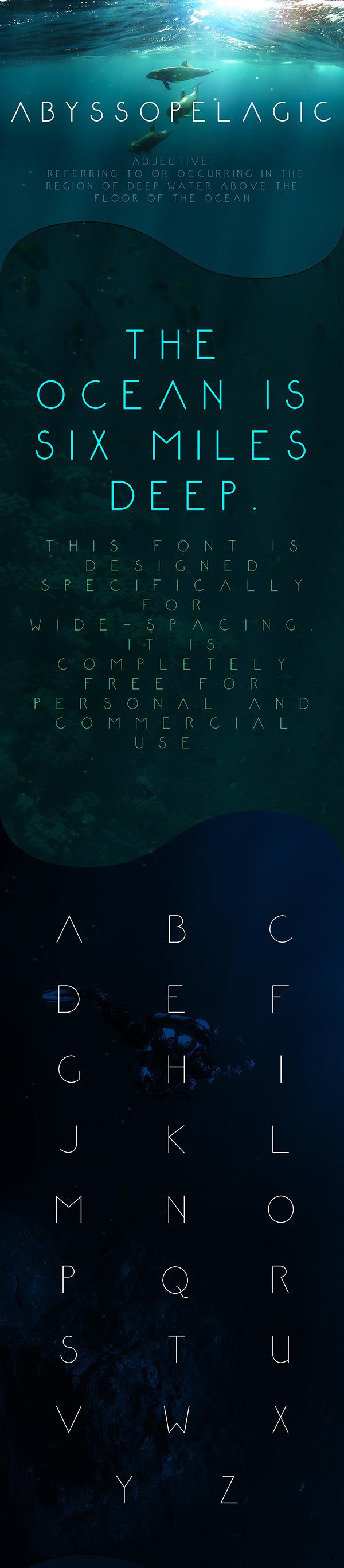 01 Abyssopelagic Free Font