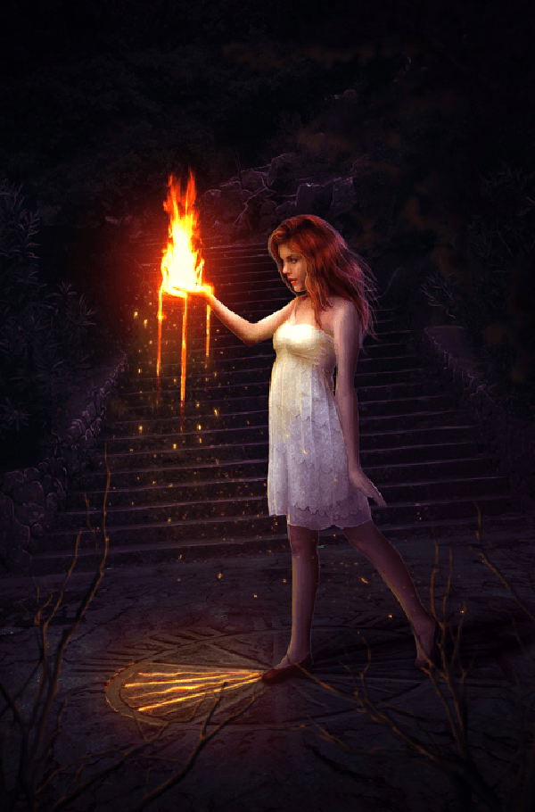 02 How to Create a Fantasy Photo Manipulation with Fire