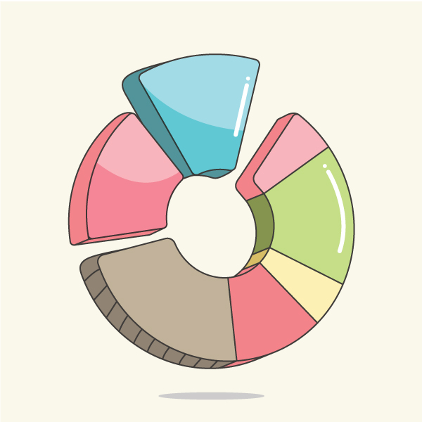 02 How to Create a Pie Chart in Adobe Illustrator