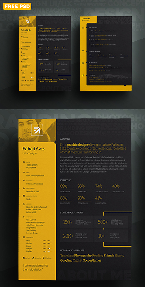 02 My Personal Resume PSD
