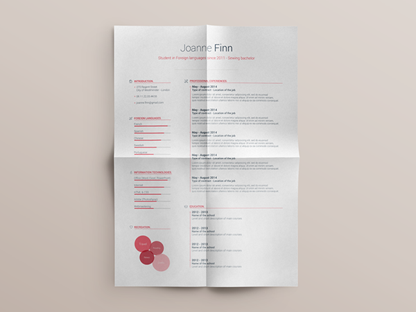 04 Free Resume template