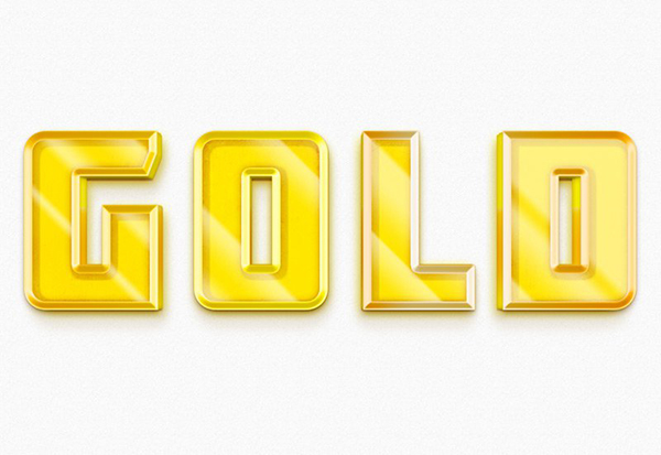05 3D Gold Text Style PSD