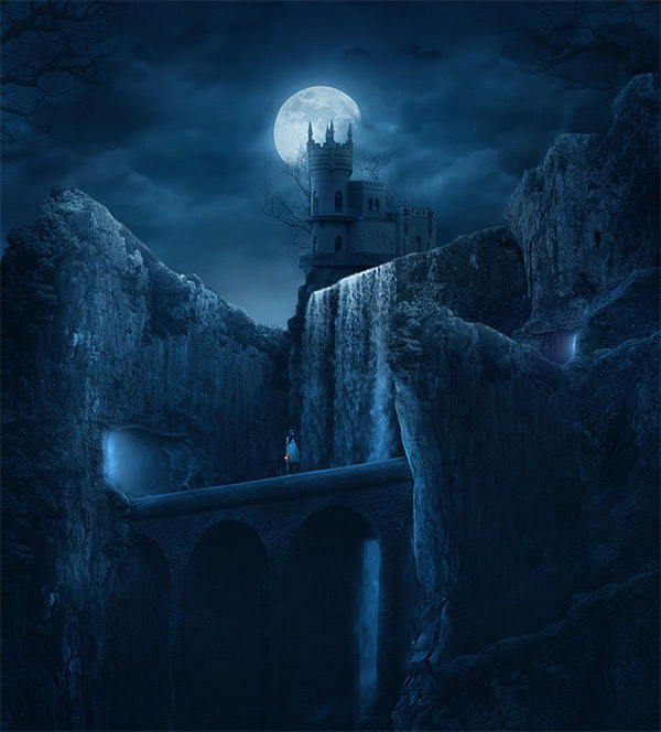 05 How to Create a Dark Mysterious Hideout from a Rough Sketch