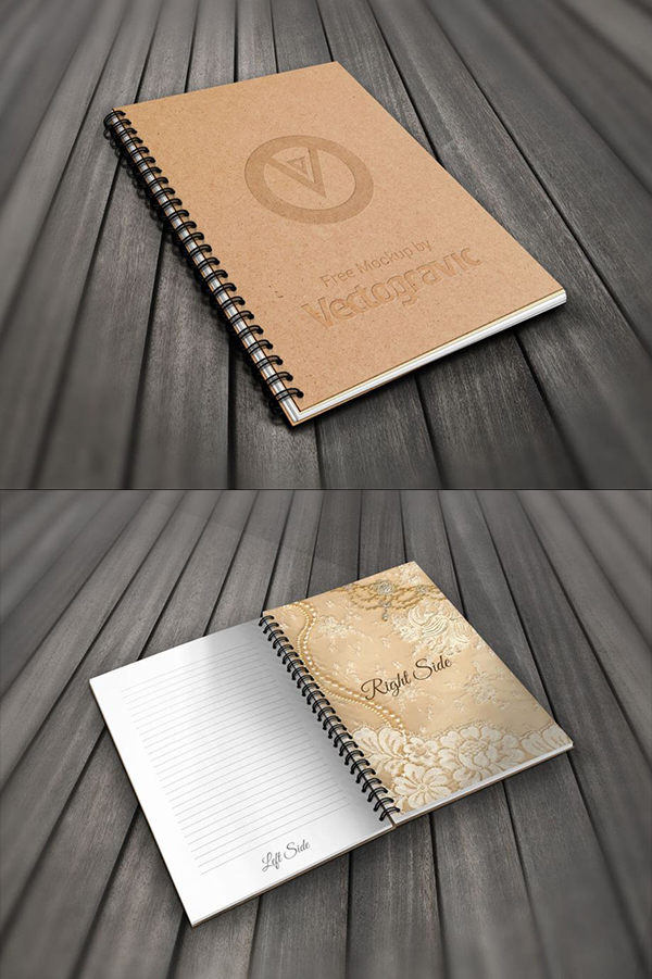 06 Spiral Book Mockup