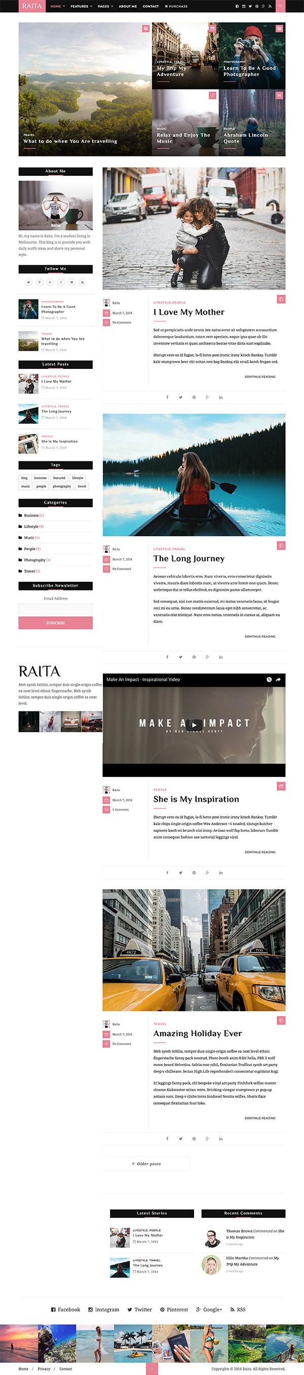 07 Raita - Minimal WordPress Theme for Writers