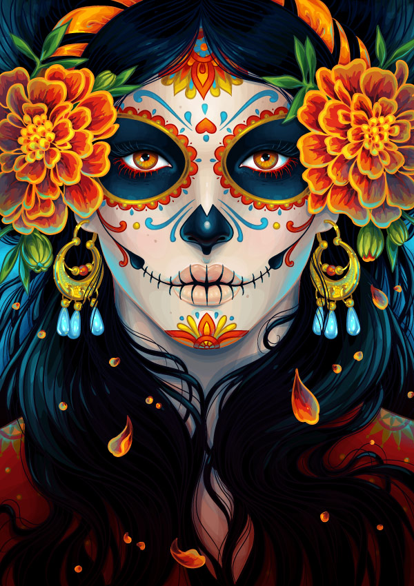 08 Day of the Dead Portrait