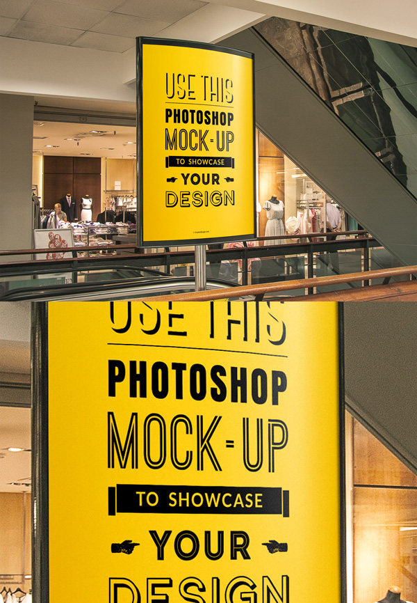 08 Indoor Advertising Poster MockUp