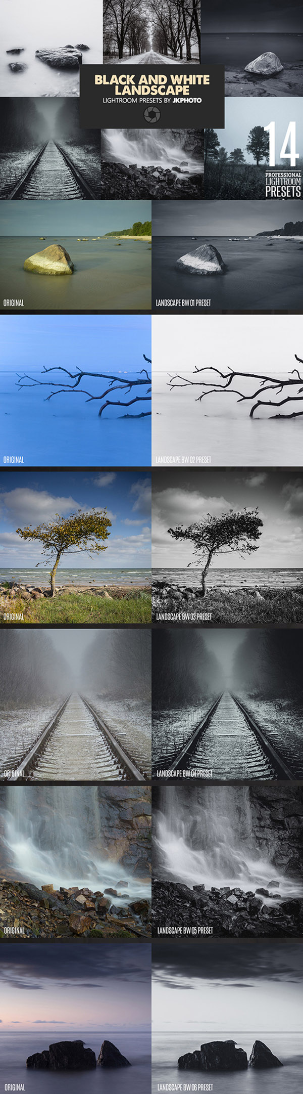 09 14 Black And White Landscape Lightroom Presets