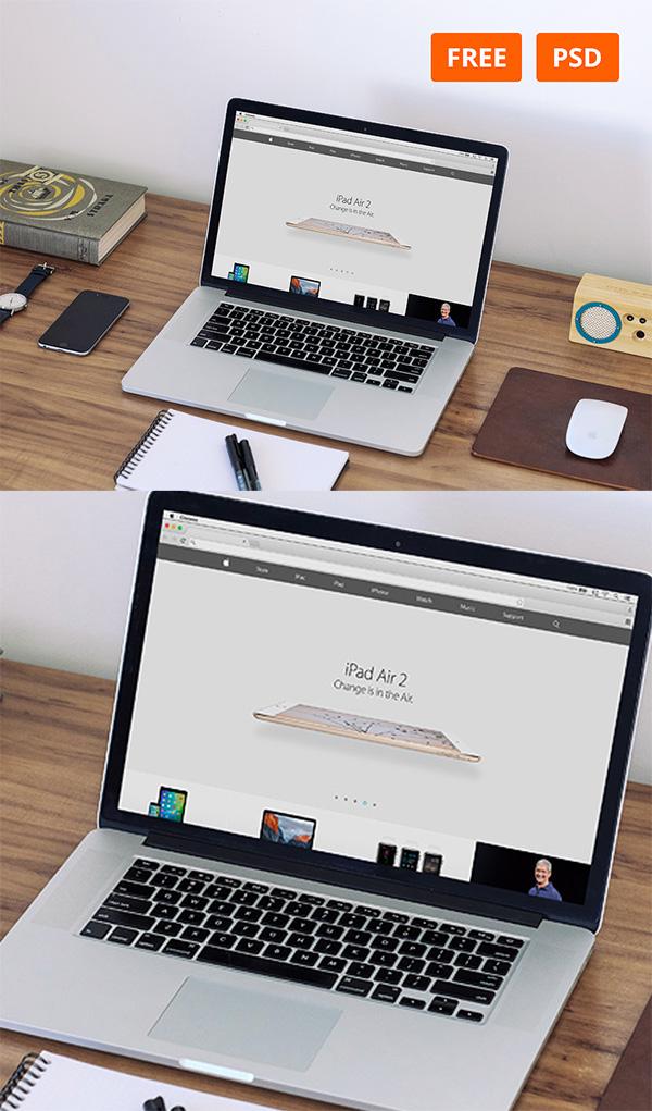 09 MacBook Workspace Mockups