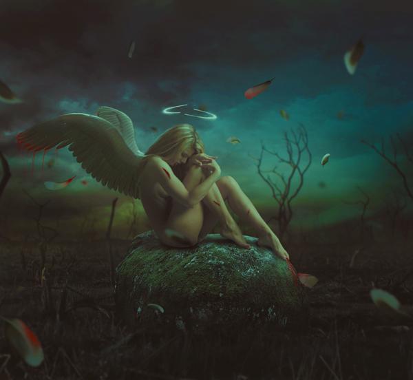 09 Photo Manipulate a Dark, Emotional Fallen Angel Scene