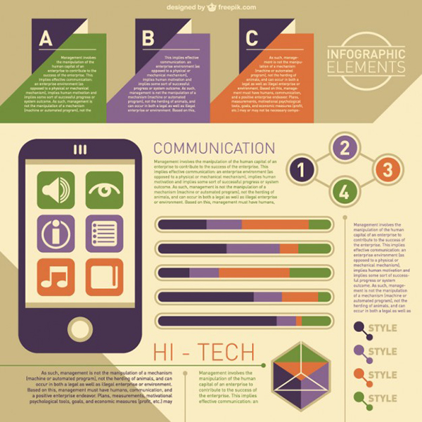 11 High tech infographic