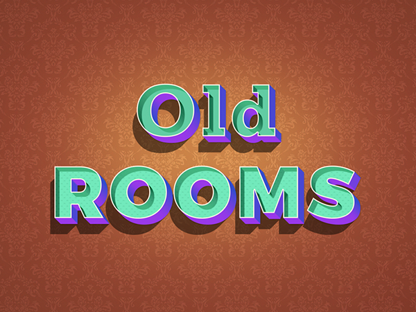 11 Old Rooms Text Effect