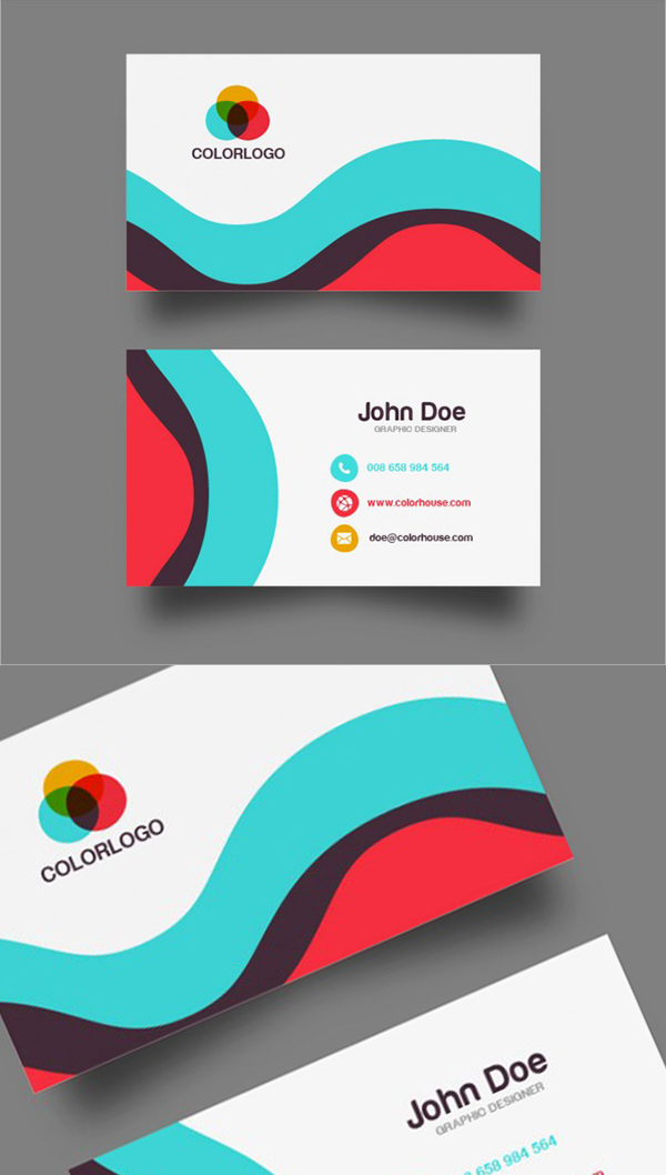 14 Free Flat Business Card Template