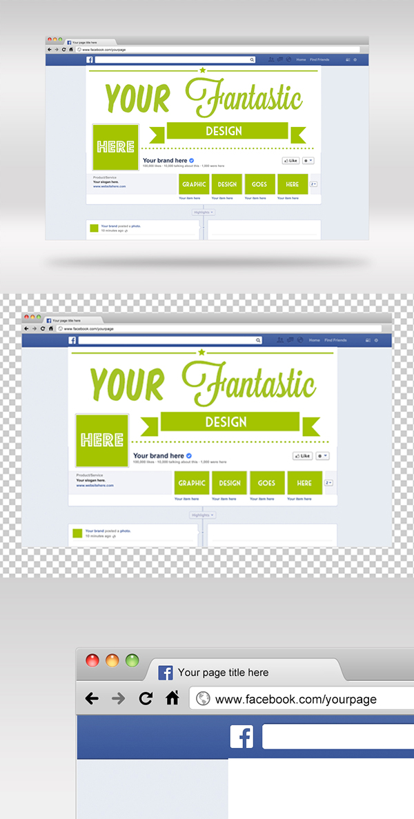 15 Facebook Photoshop cover mockup
