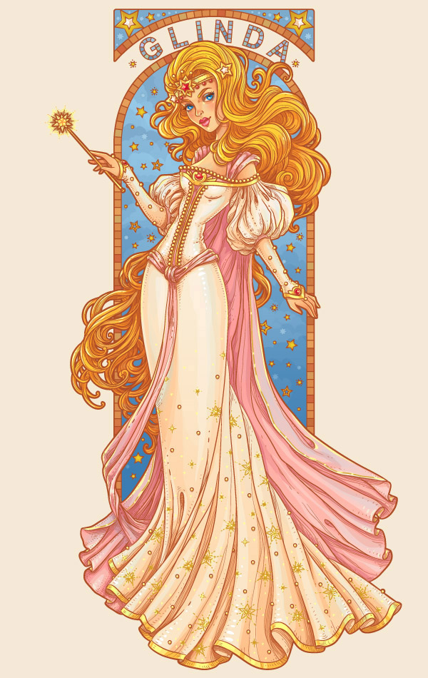 15 Nouveau-Inspired Glinda Character