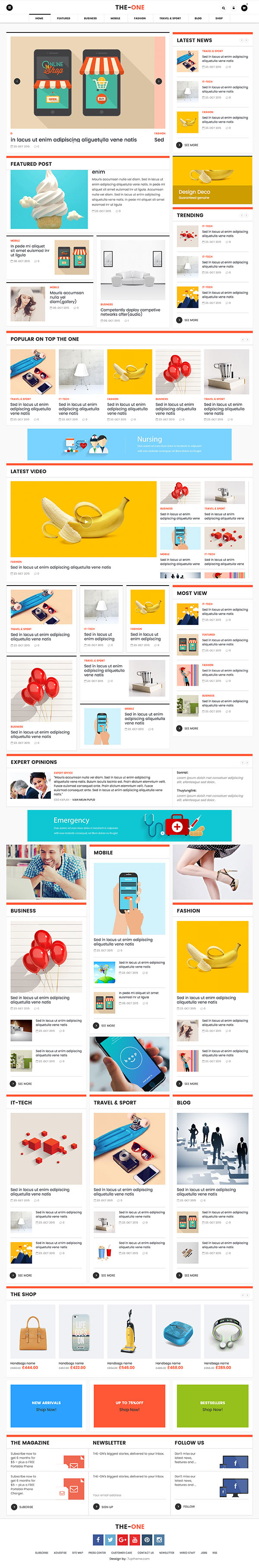 15 The One - Responsive Blog, News, & Magazine Theme