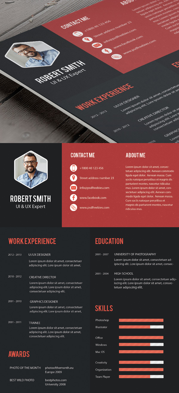 16 Creative Professional Resume Template Free PSD