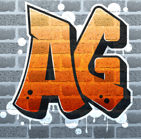 17 Create Graffiti Logo on Brick Wall with Texture in Illustrator