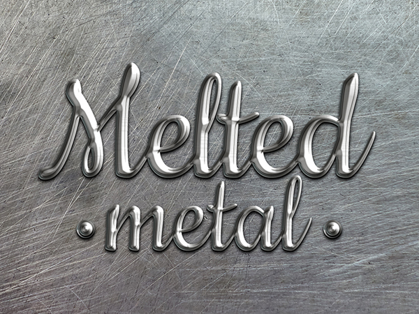 17 Melted Metal Text Style