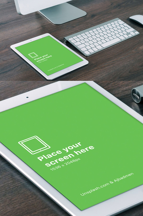20 Free Realistic iPad Air PSD Template