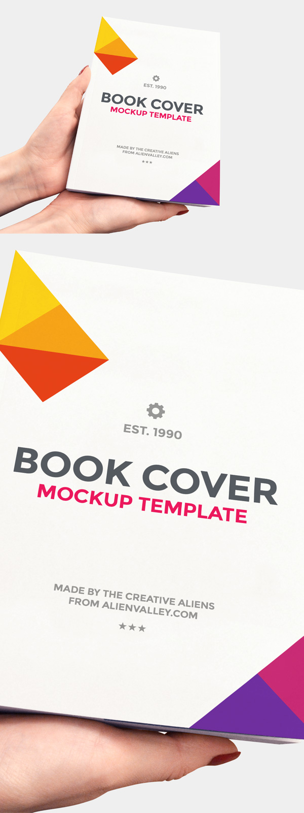 21 Free Book Cover Mockup