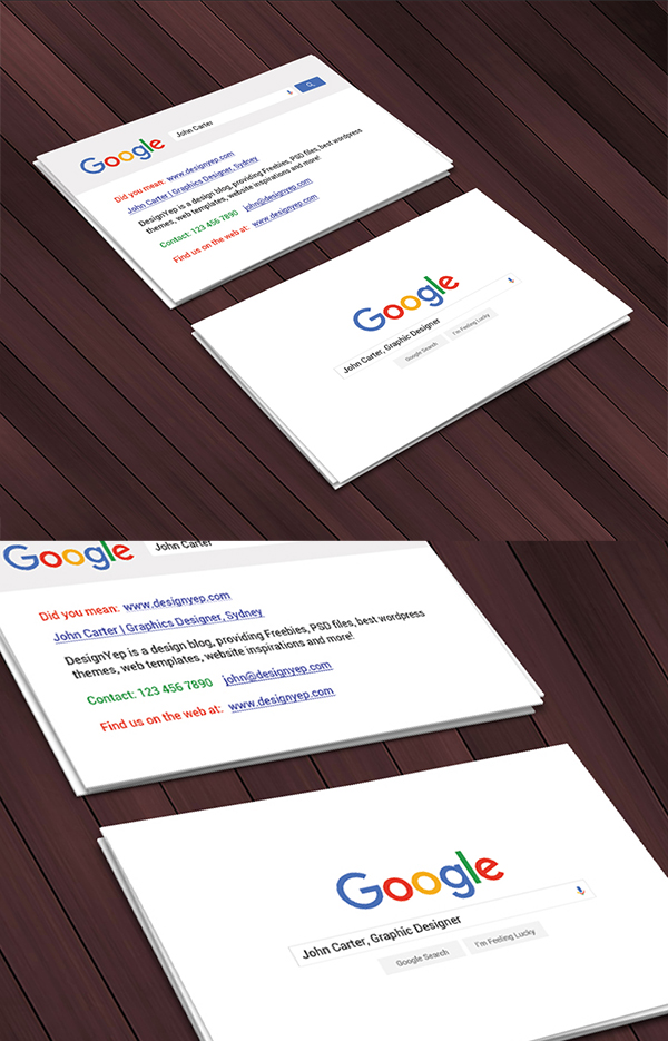 21 Free Google Interface Business Card