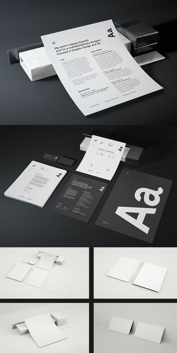 21 Free Resume Mockup PSD Template