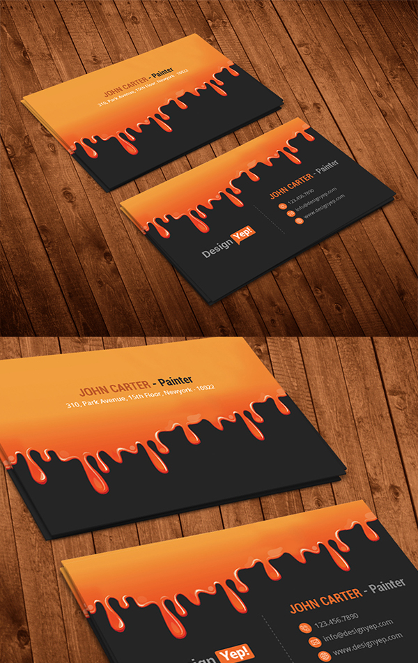 22 Free Painting Business Card PSD