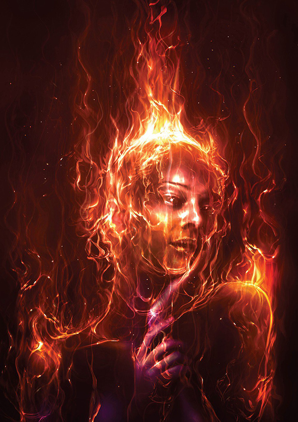 40 Photoshop tutorial- Paint with fire