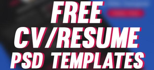 19 Free PSD CV/Resume Templates