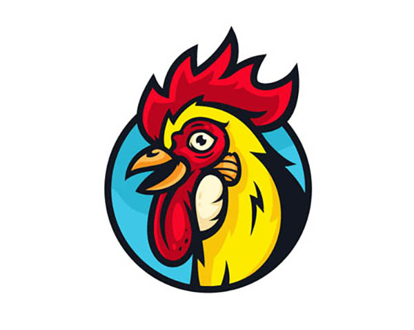 01 Free Vector Rooster + Video Process