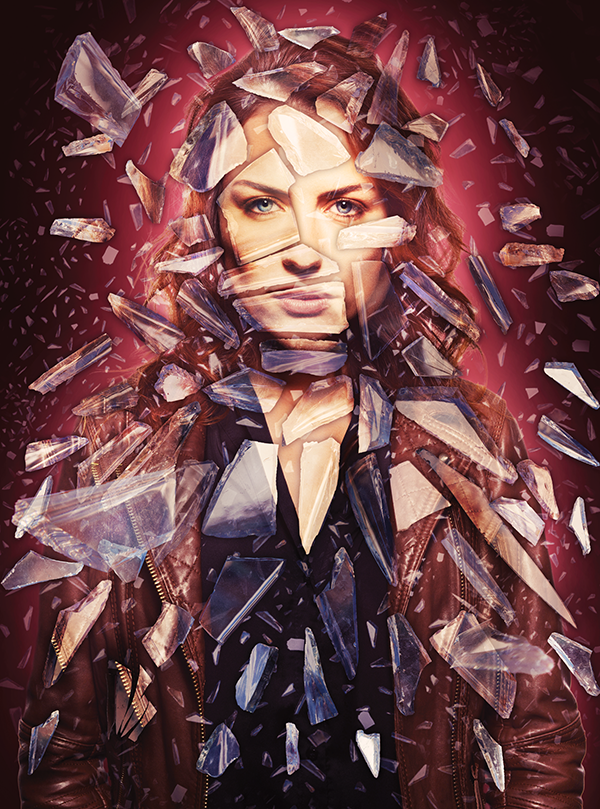 02 Create a shattered glass portrait