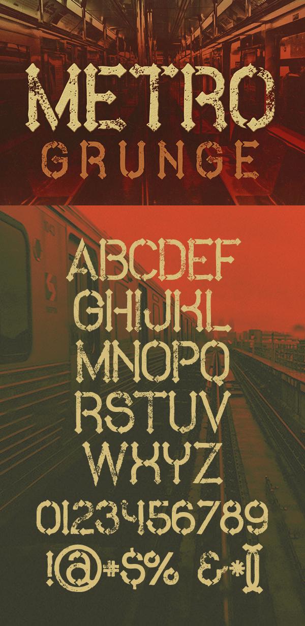 04 Metro Grunge Free Font