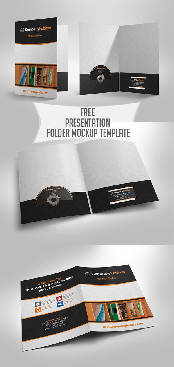 05 Free Presentation Folder Mockup Template