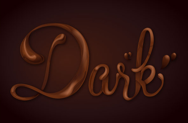 05 How Sweet! Chocolate Text Vector Effect Tutorial