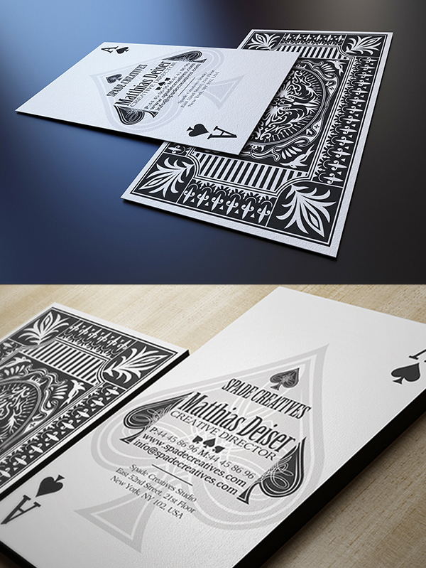 06 Casino Style Business Card