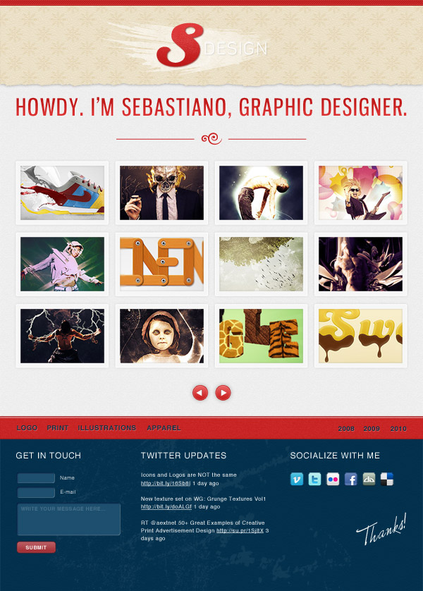 06 Make a Stylishly Elegant Portfolio Web Design in Photoshop