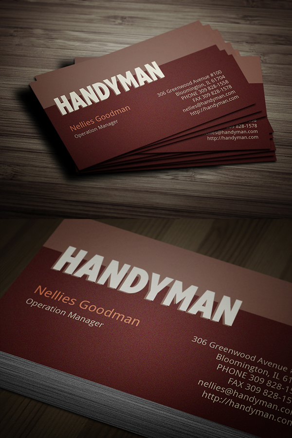 07 Handyman Toolkit Business Card