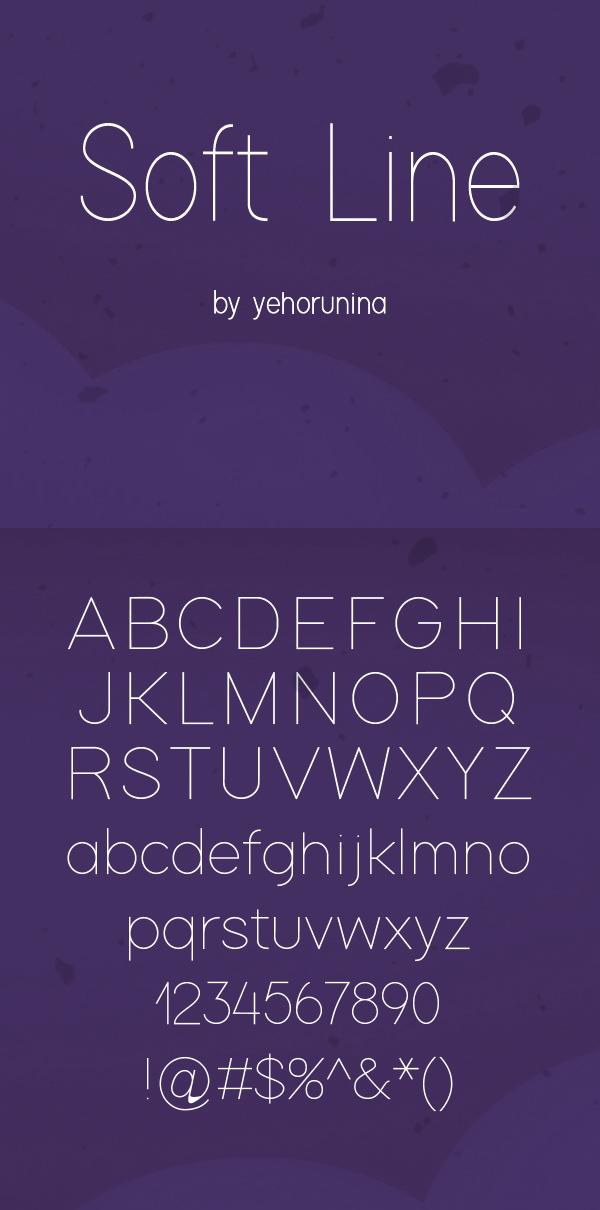 07 Soft Line Free Font
