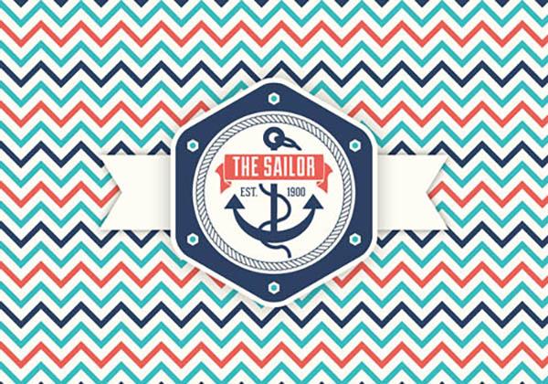 08 Feee Retro Nautical Label Vector Graphic