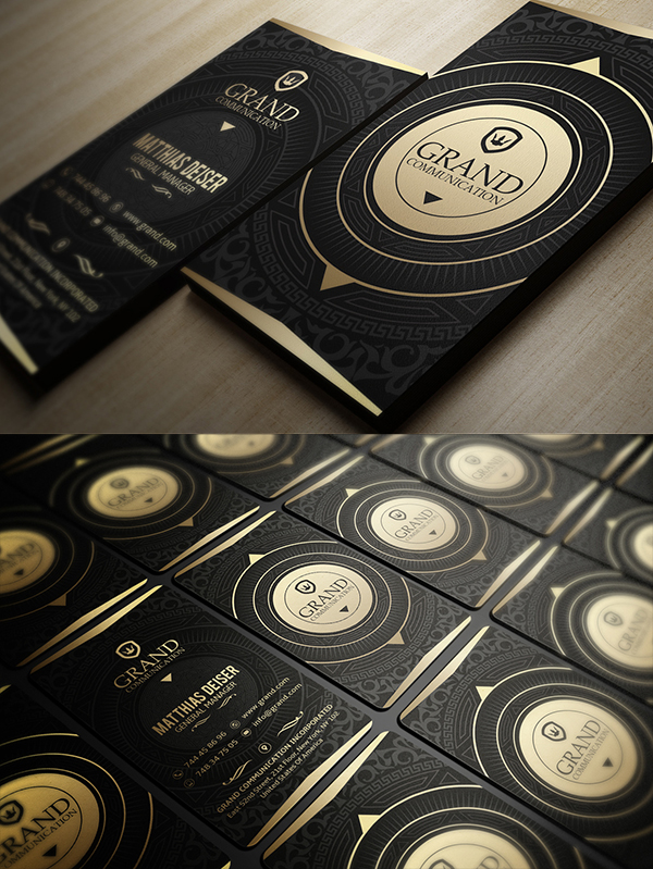 09 Gold And Black Business Card
