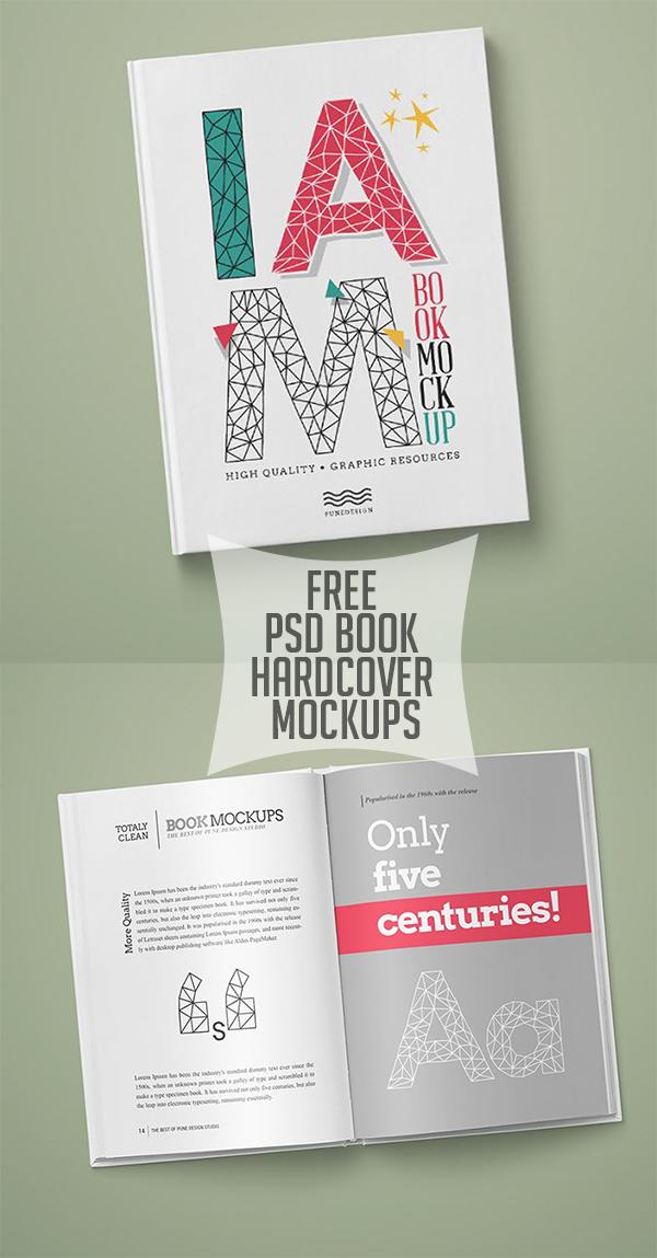 11 Free PSD Book Hardcover Mockups