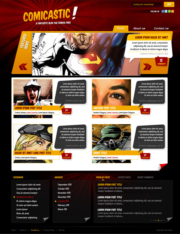 13 Create a Comic Book Themed Web Design, Photoshop
